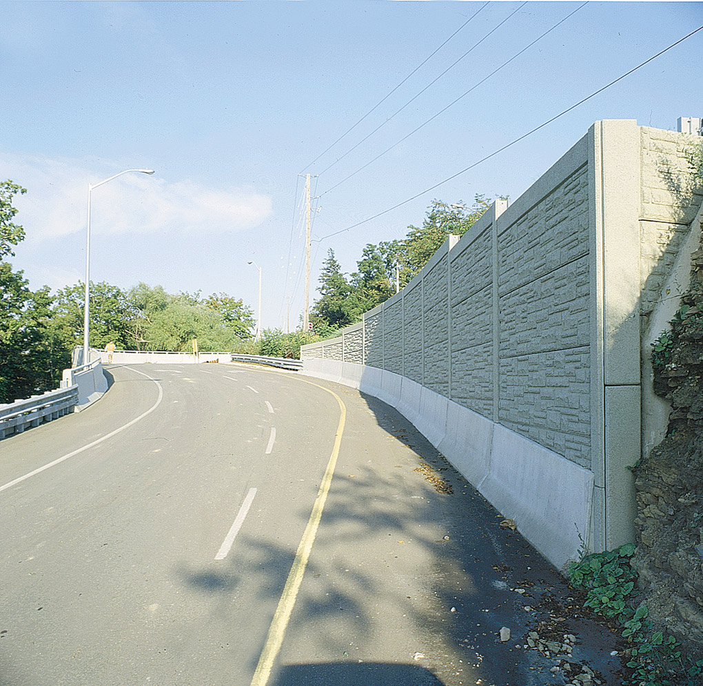 Completed retaining wall and roadway